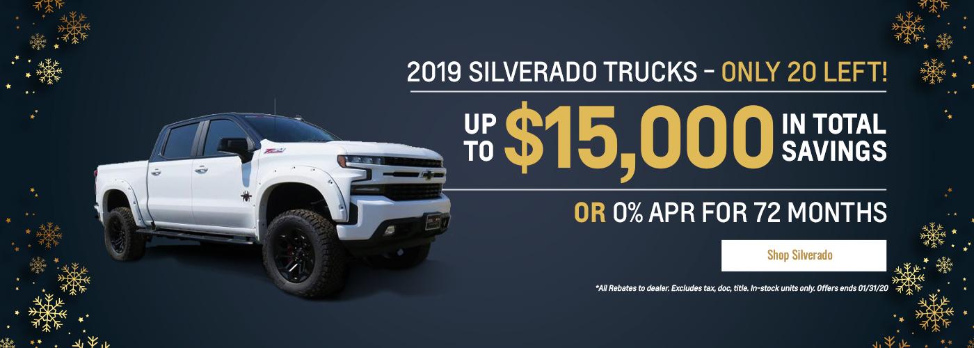 2019 Silverado $15,000 OFF MSRP