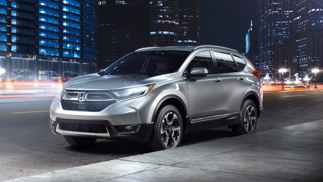 2019 Honda CR-V Touring shown in Lunar Silver