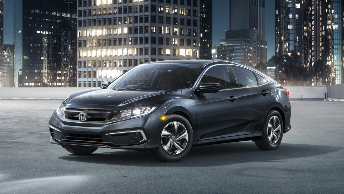 2019 Honda Civic Sedan Touring shown in Cosmic Blue Metallic