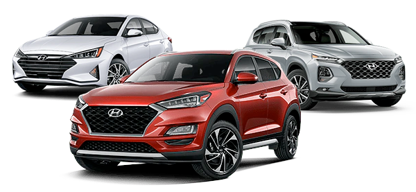 Vehicle Lineup: 2020 Tucson Sport, 2020 Elantra Limited and 2020 Sante Fe Limited
