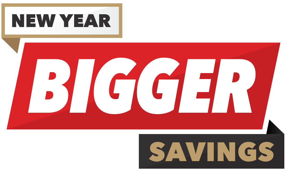 New Year Bigger Savings logo