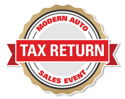Modern Auto Tax Return Sales Event