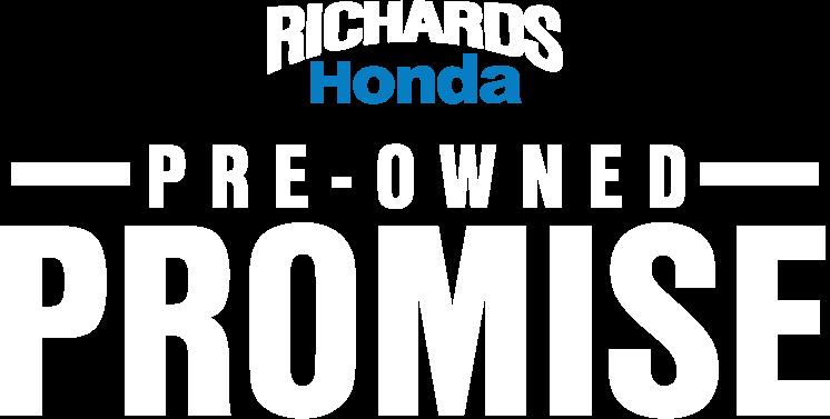 Richards Honda Pre-Owned Promise Logo