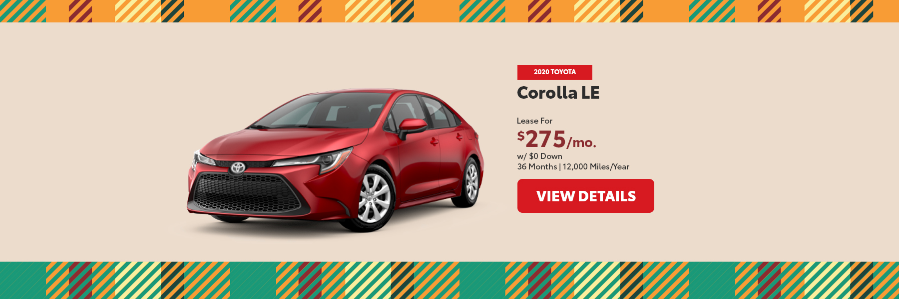 2020 Corolla Special Offer