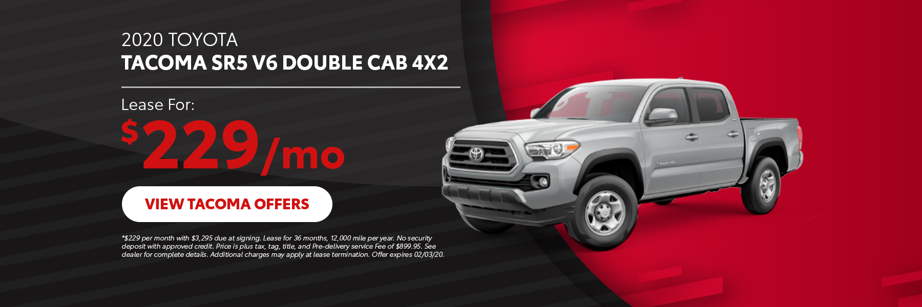 2020 Toyota Tacoma Offer