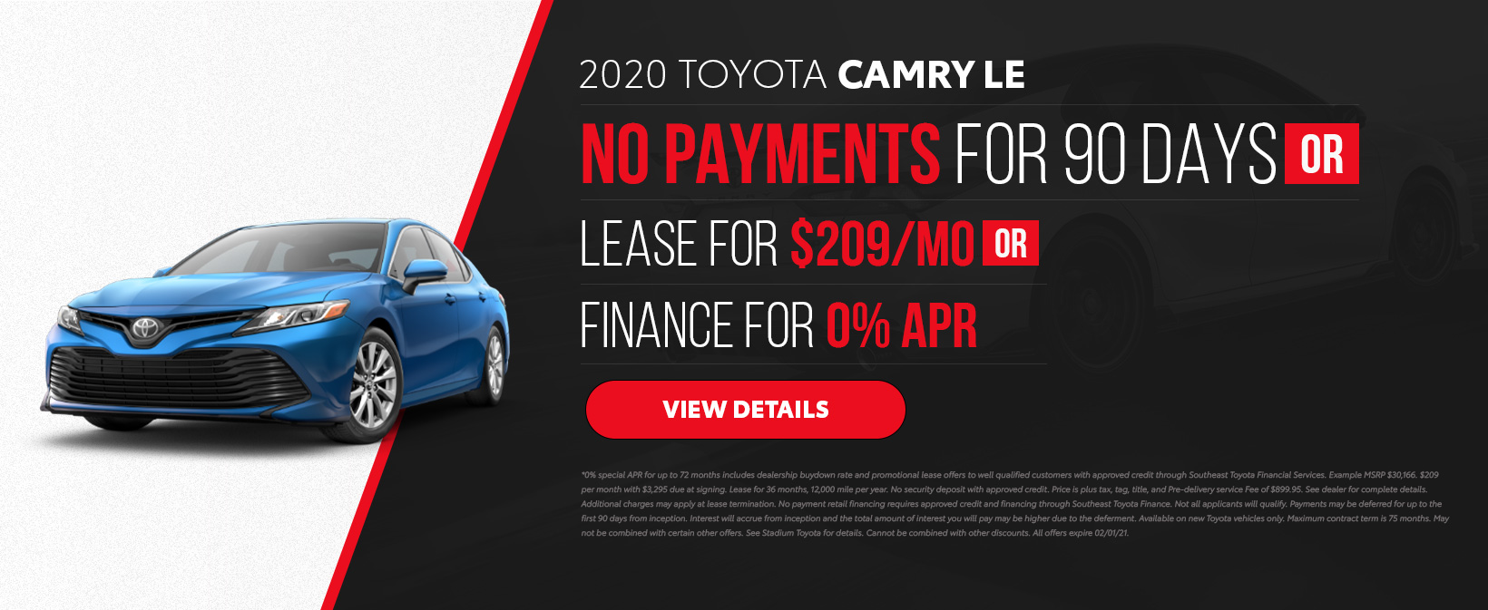 2020 Camry Offer in Tampa, FL