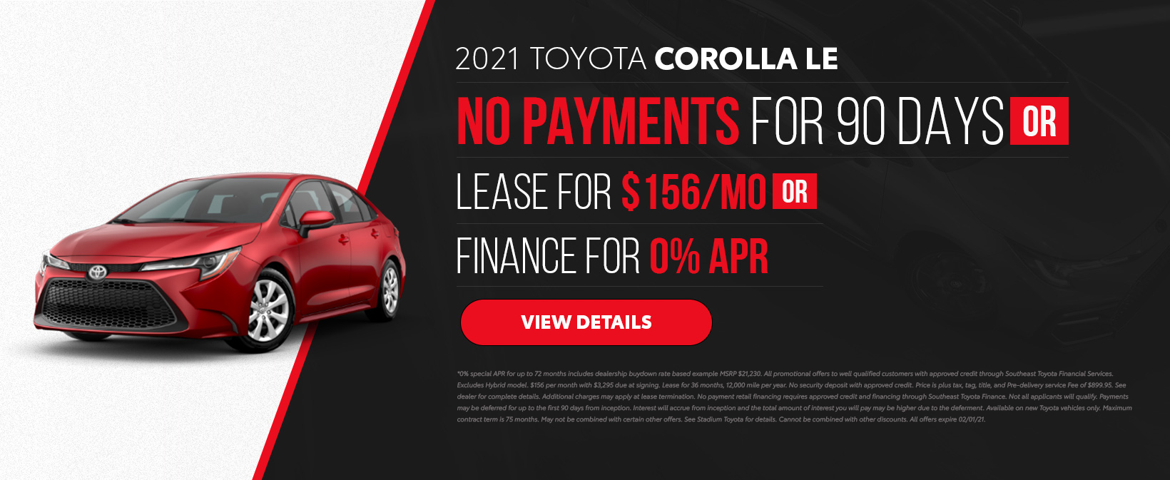 2021 Toyota Corolla Offers in Tampa, FL