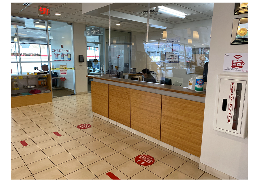 Toyota of Watertown - Service Reception Cleaned Thoroughly