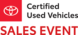 Toyota Certified Used Vehicle Sales Event