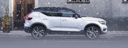 Volvo XC40 parked with a profile view