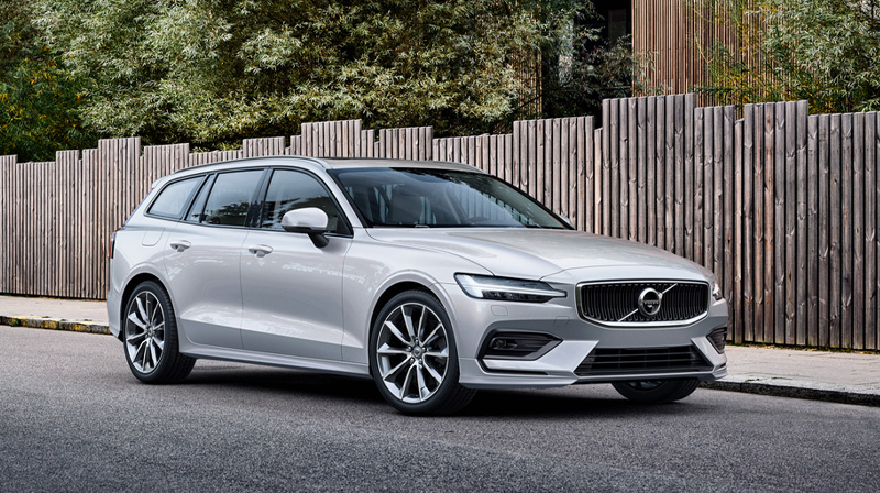 2020 VOLVO V60 Parked by a fence