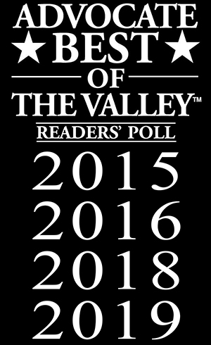 Advocate Best of the Valley Readers Poll 2015, 2016, 2018, 2019