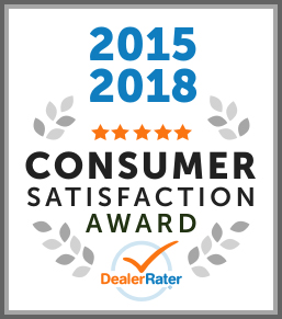 2015, 2018 DealerRater Consumer Satisfaction Award