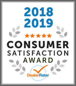 2018, 2019 DealerRater Consumer Satisfaction Award