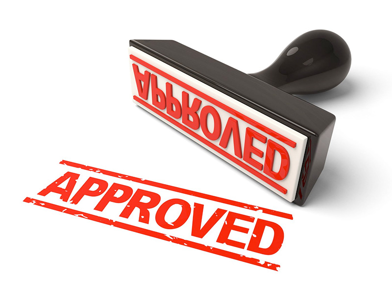Stamp of Loan Approval