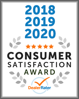 2018, 2019, 2020 DealerRater Consumer Satisfaction Award