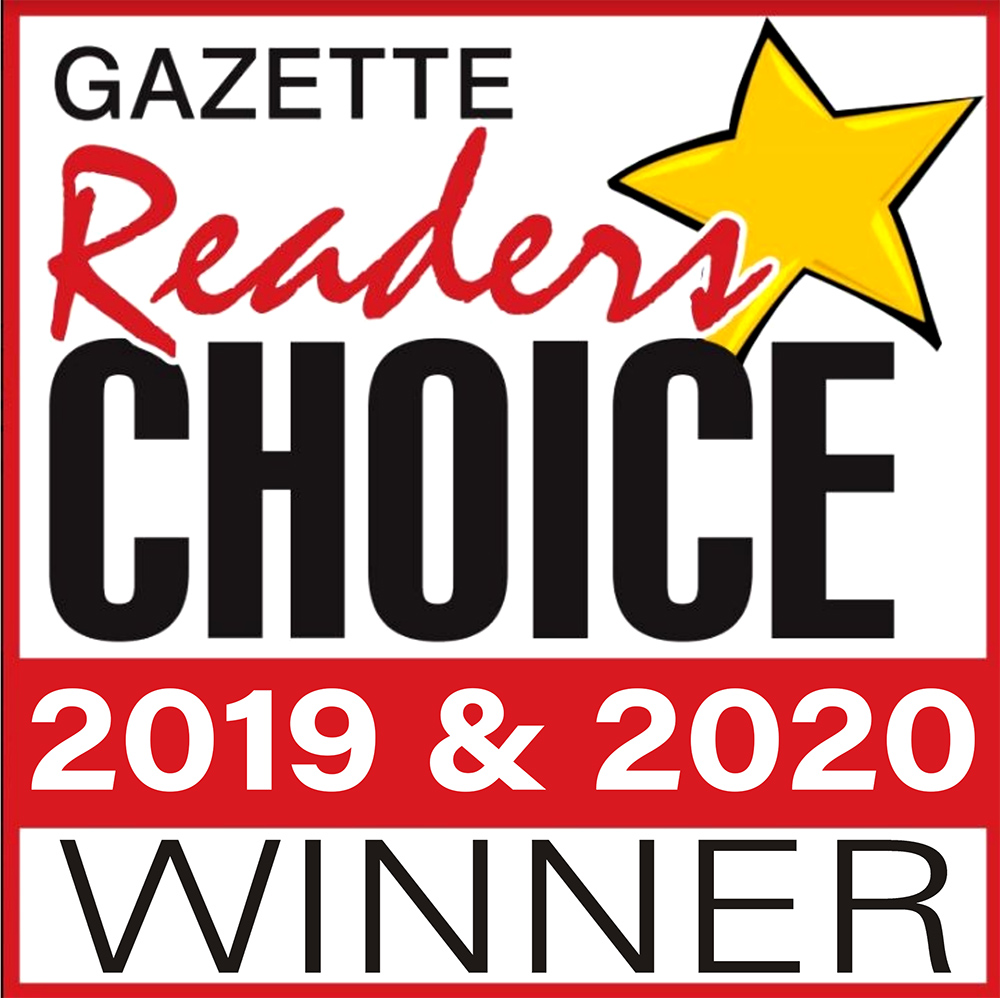 Gazette Reader's Choice 2019 & 2020 Winner