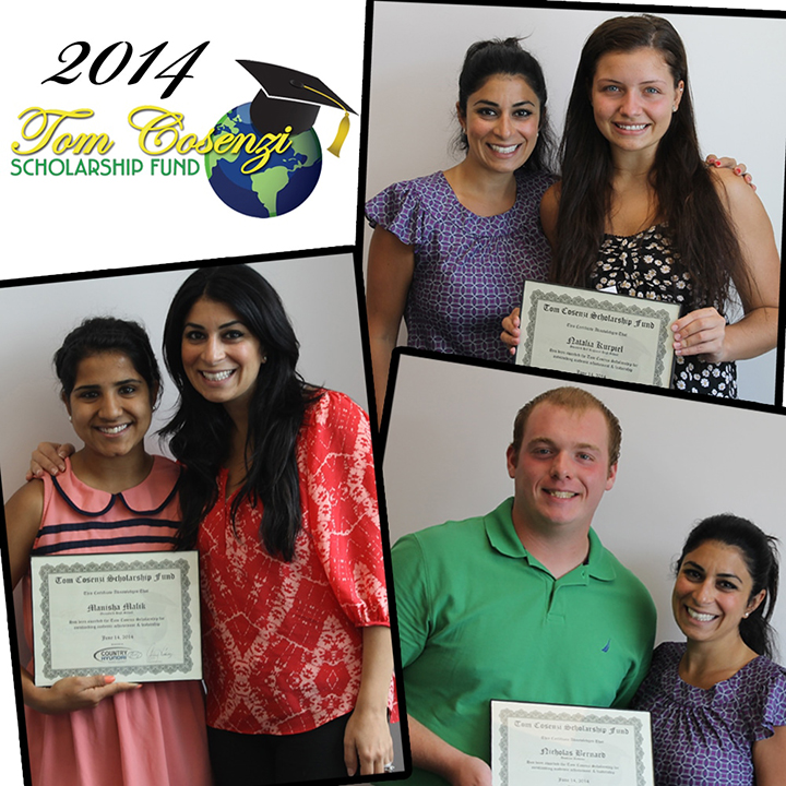 Tom Cosenzi Scholarship Fund - 2014 Winners